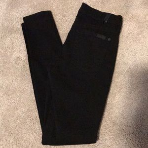 7 For All Mankind Black skinny jeans size 26